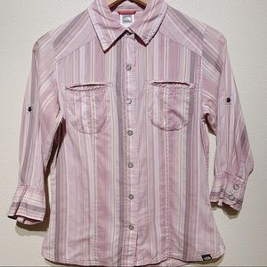 North Face 3/4 Sleeve Button Up Shirt X-Small